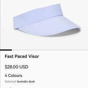 Lululemon Fast Paced Visor